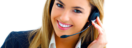 CSCS Representative taking bookings on the phone
